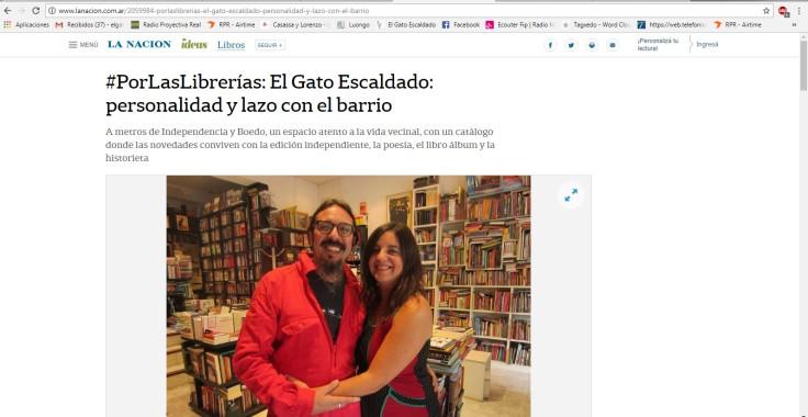 Nota Por las librerías La Nacion online 2017 1