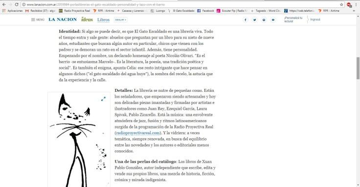Nota Por las librerías La Nacion online 2017 3