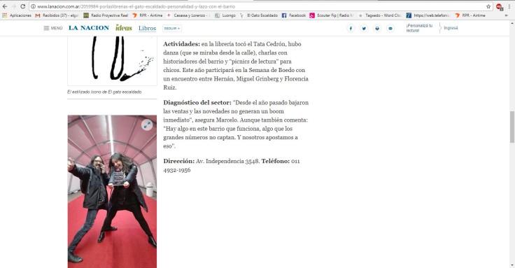 Nota Por las librerías La Nacion online 2017 4